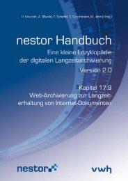Web-Archivierung zur Langzeiterhaltung von Internet ... - nestor