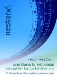 Standards und Standardisierungsbemühungen - nestor