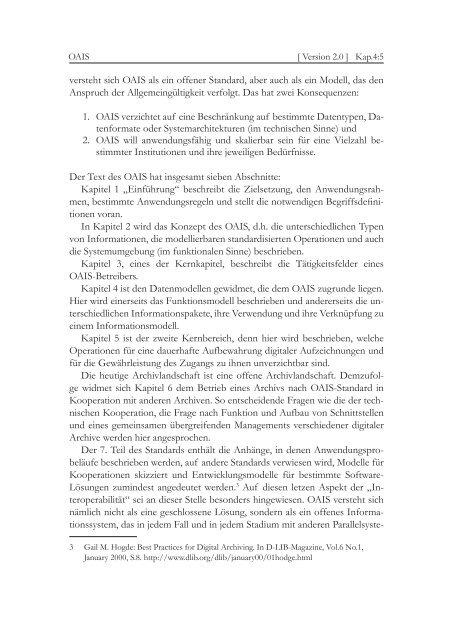 Kapitel 4.2 Das Referenzmodell OAIS - nestor