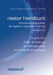 ARNE - Archivierung von Netzressourcen des Deutschen ... - nestor