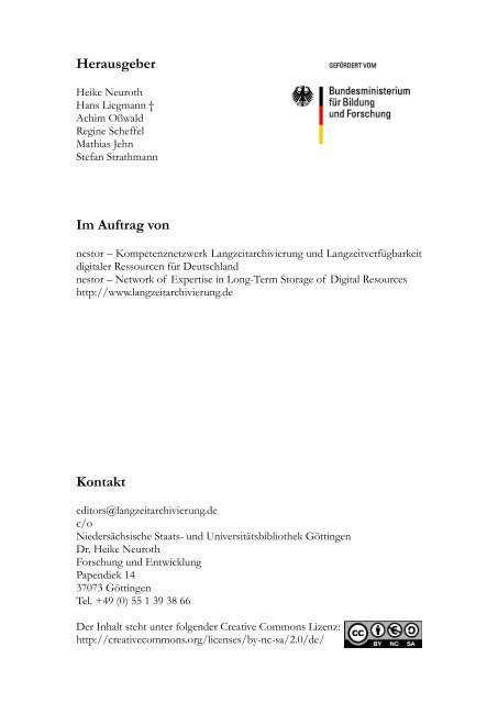 Das Referenzmodell OAIS - Open Archival Information System - nestor