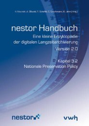 Kapitel 3.2 Nationale Preservation Policy - nestor