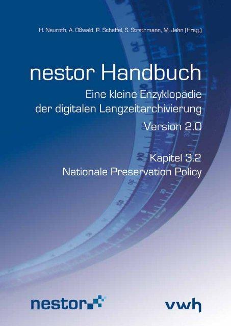 Kapitel 3.2 Nationale Preservation Policy - nestor