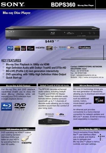 Blu-ray Disc Player - Omnisystems