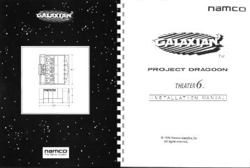 Galaxian³ Project Dragoon Theater 6 Installation Manual