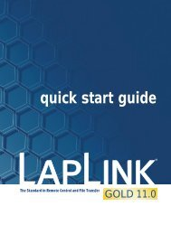 quick start guide - Laplink