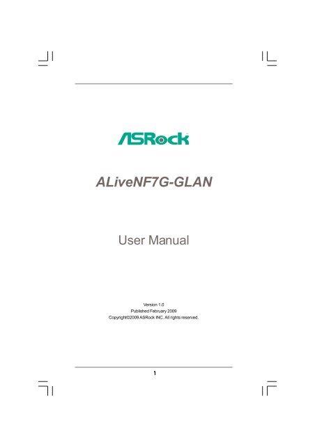 ASROCK ALIVENF7G-GLAN VGA 64BIT DRIVER