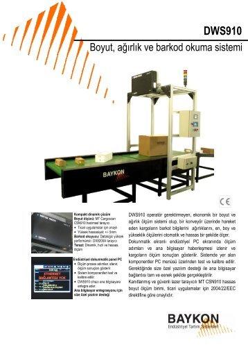 DWS910 - BAYKON Endüstriyel Tartım Sistemleri