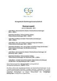Basisprospekt 2013 - Evangelische Darlehnsgenossenschaft eG