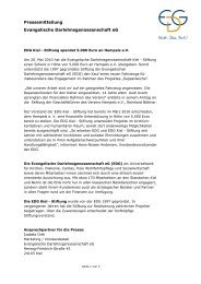 EDG Kiel - Stiftung spendet 5.000 Euro an Hempels e.V.