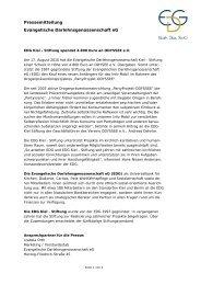 EDG Kiel - Stiftung spendet 4.800 Euro an Odyssee e.V.