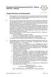 Vergaberichtlinien - Evangelische Darlehnsgenossenschaft eG