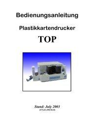 TOP Bedienungsanleitung - F+D Feinwerk