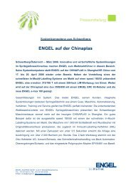 ENGEL auf der Chinaplas - Engel Austria