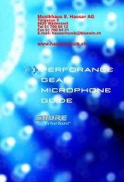Shure Mikrophone - Musikhaus E. Hauser AG
