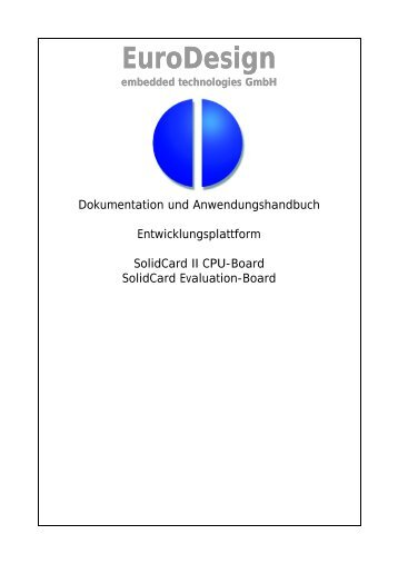 Handbuch - EuroDesign embedded technologies GmbH
