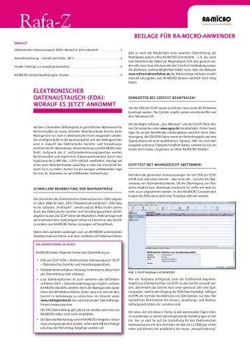 Elektronischer Datenaustausch (EDA): Worauf ... - Ra-micro-doku.de
