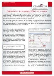 Elektronischer Rechtsverkehr (ERV) mit ra-micro