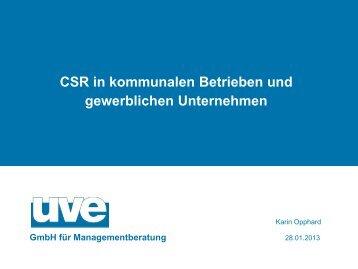 Karin Opphard, CSR in kommunalen und gewerblichen Unternehmen