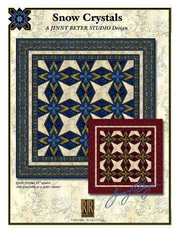 Snow Crystals - RJR Fabrics
