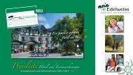 Preisliste Hotel und Ferienwohnungen - Hotel Edelweiss Willingen
