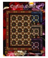 Featurng fabrics from English Garden by Jinny Beyer - RJR Fabrics