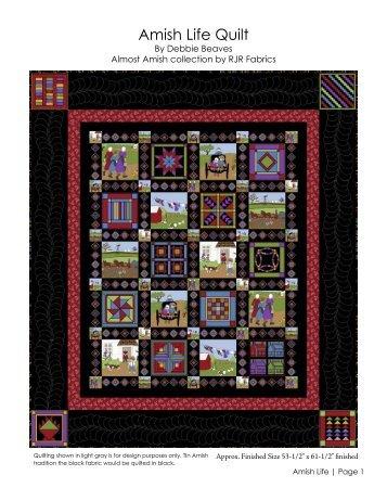 Amish Life Quilt - RJR Fabrics