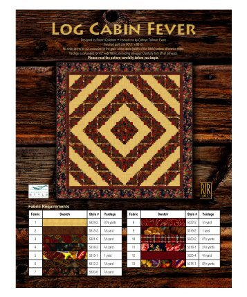Log Cabin Fever - RJR Fabrics