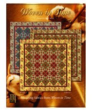 Featuring fabrics from Woven in Time - RJR Fabrics