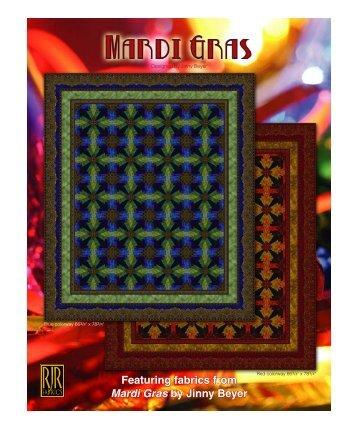 Featuring fabrics from Mardi Gras by Jinny Beyer - Logans ...