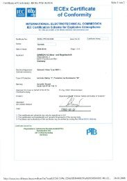 lECEx Certificate of Conformity
