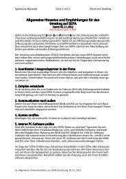 01. Allgemeine Checkliste zur SEPA-Umsetzung 02.11.2012