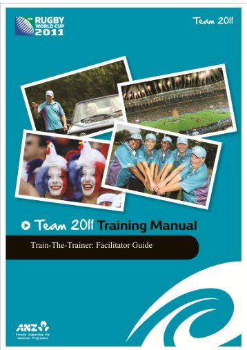 Train-The-Trainer: Facilitator Guide - Sport New Zealand