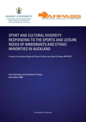 sport and cultural diversity - Sport New Zealand