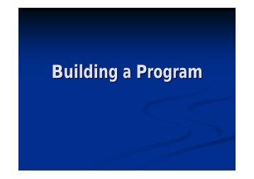 Andrej Lemanis - building a program (PDF, 202 Kb)