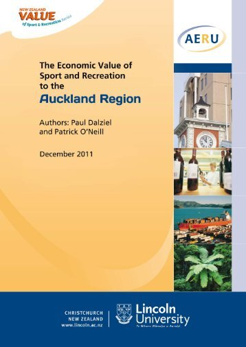 The Economic Value of Sport and Recreation to Auckland