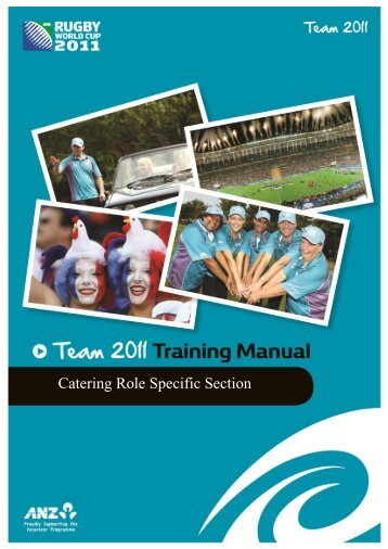 Catering Training Manual - Sport New Zealand