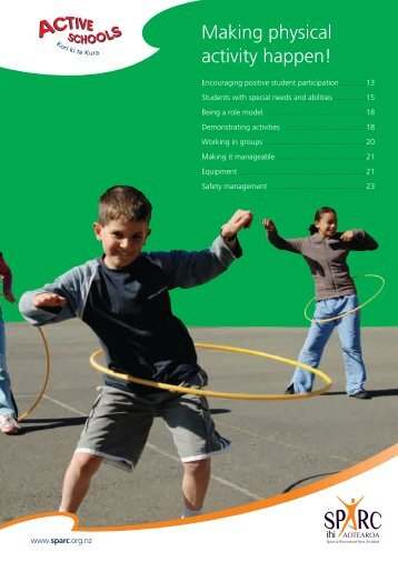 Making Physical Activity Happen (PDF, 337 Kb) - Sport New Zealand