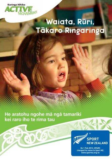 Čtahi atu ngohe mā ngā tamariki nohinohi - Sport New Zealand