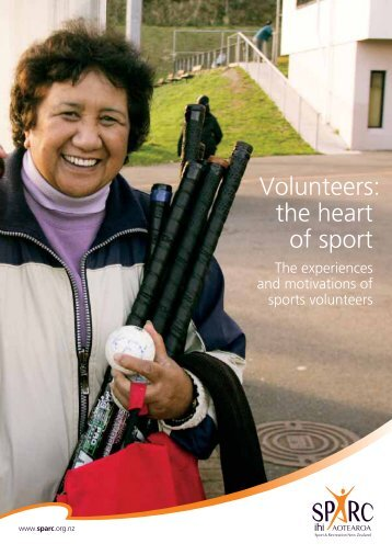 Volunteers: the heart of sport - Sport New Zealand