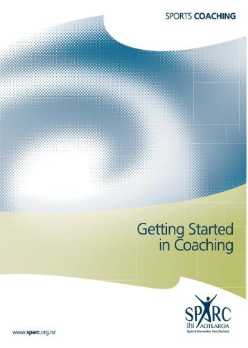 Getting Started in Coaching - Sport New Zealand