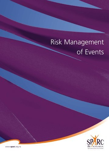 Risk Management of Events (PDF, 886 Kb) - Sport New Zealand