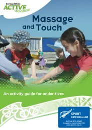 Active Movement Massage and Touch - Sport New Zealand