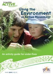 Using the Environment in Active Movement - Sport New Zealand