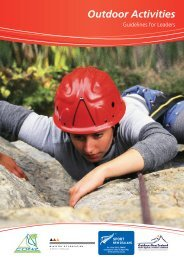 Outdoor Activity - Guidelines for Leaders - Sport New Zealand