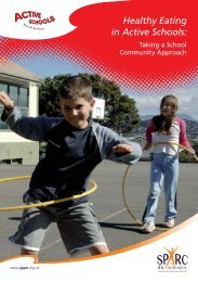 Healthy Eating in Active Schools - Sport New Zealand