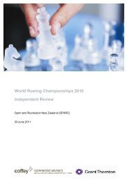World Rowing Championships 2010 Independent Review