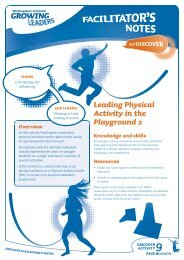 9 Leading Physical Activity in the Playground 2