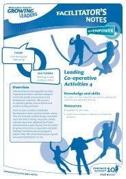 Leading Co-operative Activities 4 - Sport New Zealand