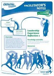 Leadership Experience Reflection 1 - Sport New Zealand